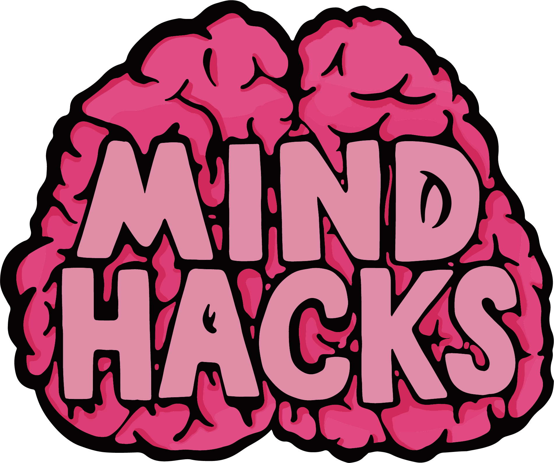 Mind Hacks icons (a pink brain with Mind Hacks written on it)