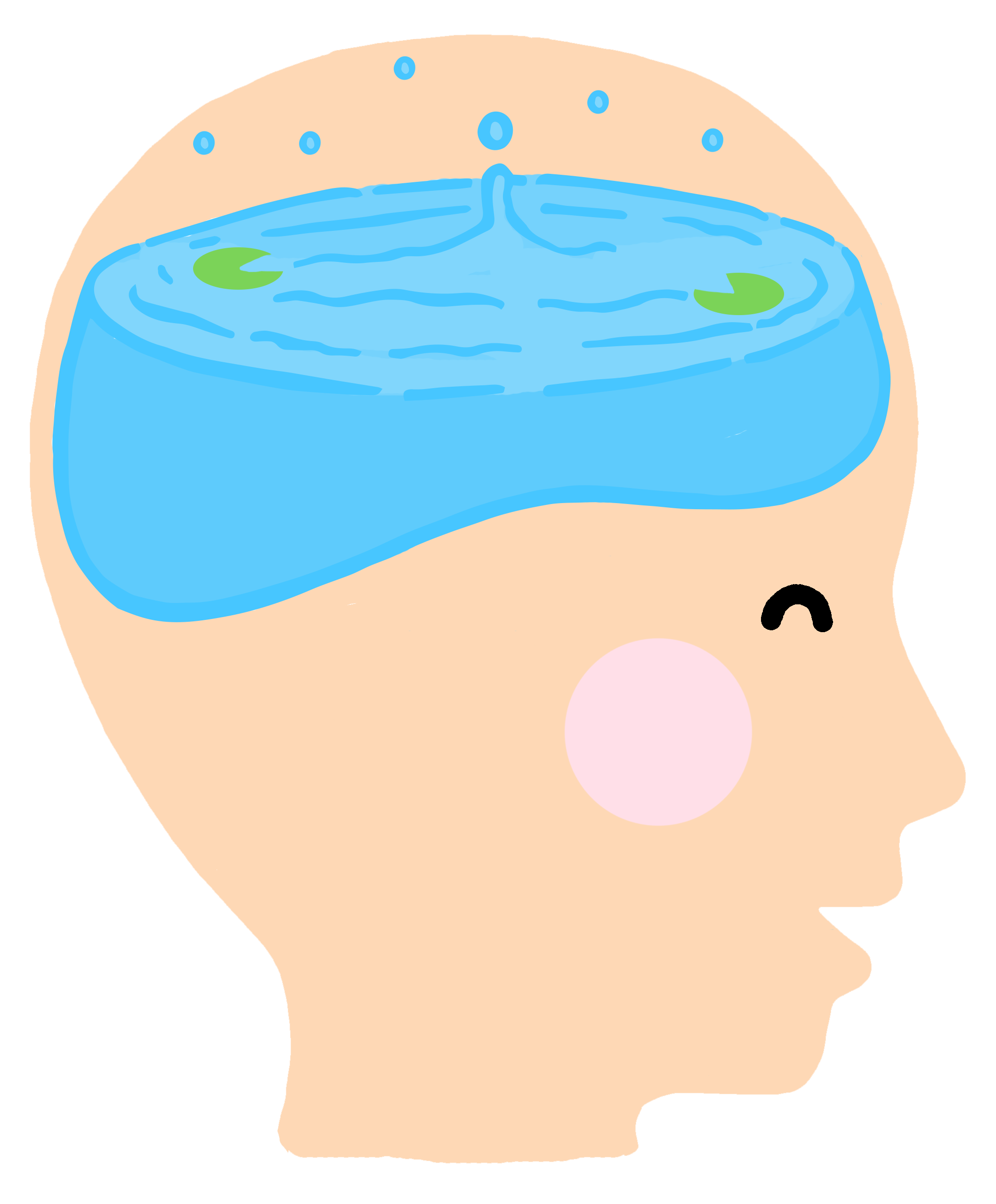 Mind like water illustration
