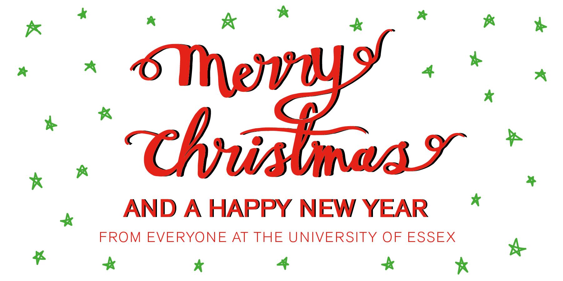 Merry Christmas written in decorative script
