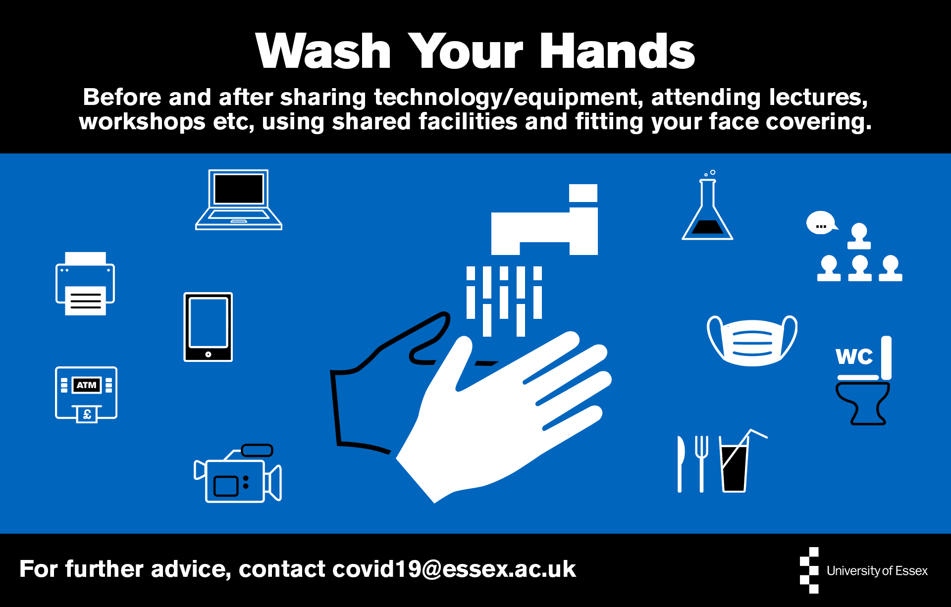 Wash your hands infographic